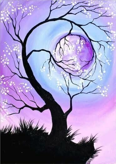 Pink Blue Purple Tree - Full Drill Diamond Painting - Specially ordered for you. Delivery is approximately 4 - 6 weeks.