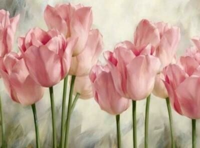 Pink Tulips - Full Drill Diamond Painting - Specially ordered for you. Delivery is approximately 4 - 6 weeks.