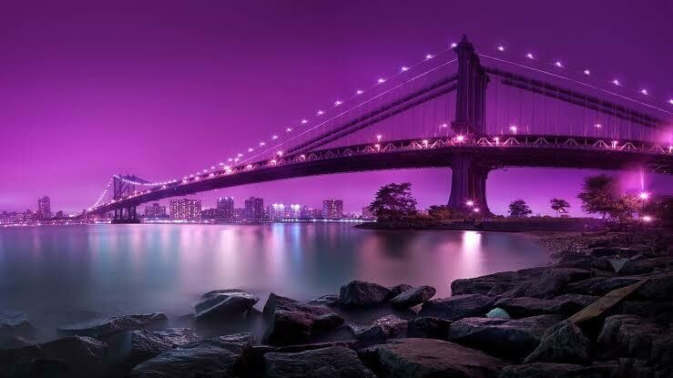 Purple Bridge - Full Drill Diamond Painting - Specially ordered for you. Delivery is approximately 4 - 6 weeks.