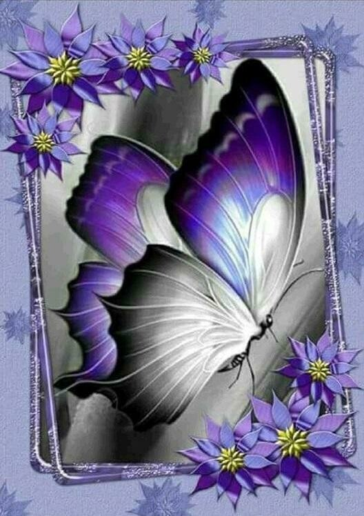 Pretty Purple Butterfly - Full Drill Diamond Painting - Specially ordered for you. Delivery is approximately 4 - 6 weeks.