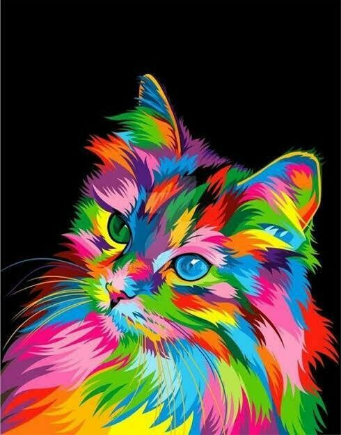 Rainbow Animals 09 - Full Drill Diamond Painting - Specially ordered for you. Delivery is approximately 4 - 6 weeks.
