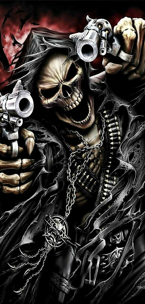 Reaper With Guns - Full Drill Diamond Painting - Specially ordered for you. Delivery is approximately 4 - 6 weeks.
