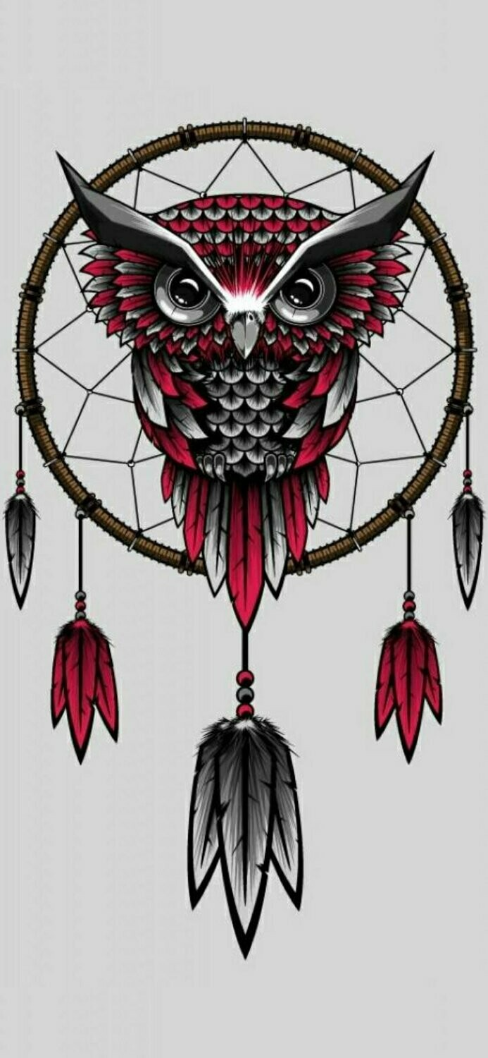 Red Black Owl Dreamcatcher - Full Drill Diamond Painting - Specially ordered for you. Delivery is approximately 4 - 6 weeks.