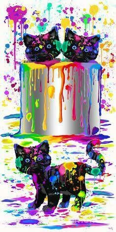 Rainbow Animals 15 - Full Drill Diamond Painting - Specially ordered for you. Delivery is approximately 4 - 6 weeks.