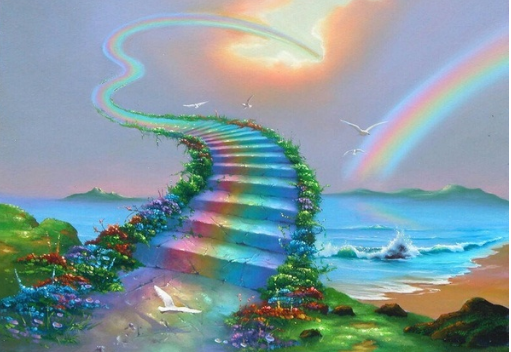 Rainbow Highway to Heaven - Full Drill Diamond Painting - Specially ordered for you. Delivery is approximately 4 - 6 weeks.