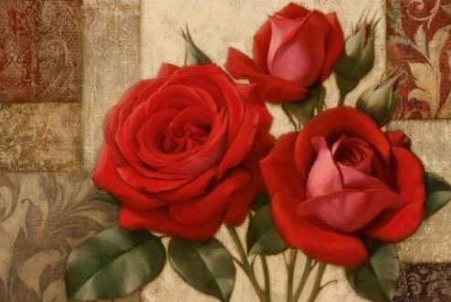 Roses on Browns - Full Drill Diamond Painting - Specially ordered for you. Delivery is approximately 4 - 6 weeks.