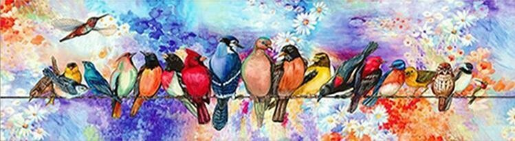 Birds on a Wire - Full Drill Diamond Painting - Specially ordered for you. Delivery is approximately 4 - 6 weeks.