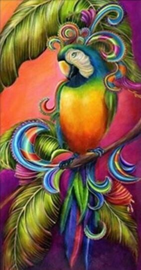 Colourful Parrot  - Full Drill Diamond Painting - Specially ordered for you. Delivery is approximately 4 - 6 weeks.