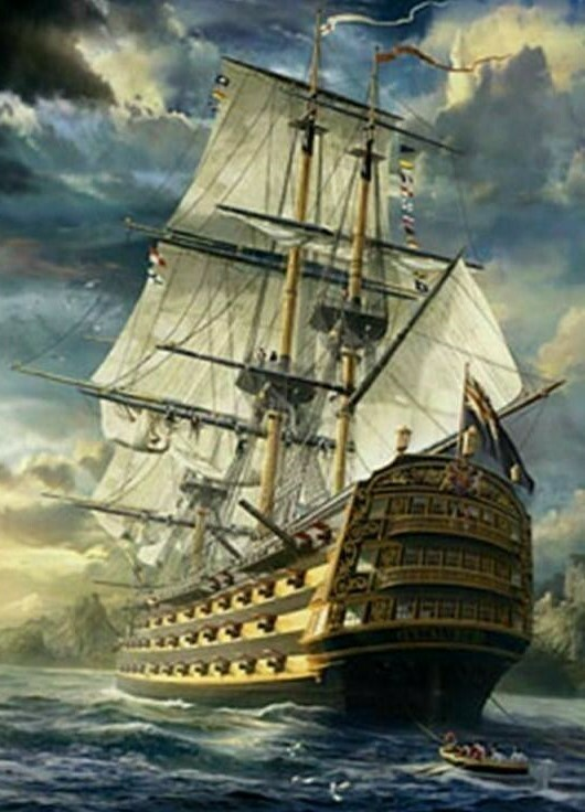 Sailing Boat - Full Drill Diamond Painting - Specially ordered for you. Delivery is approximately 4 - 6 weeks.