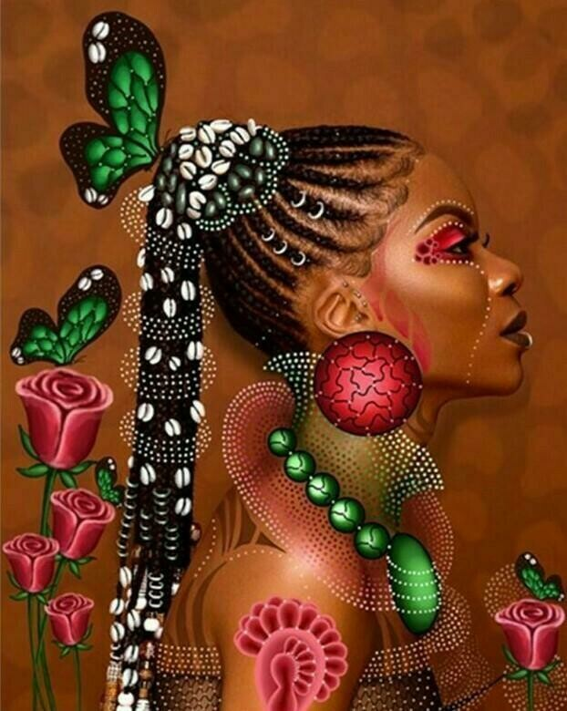 African Woman - Full Drill Diamond Painting - Specially ordered for you. Delivery is approximately 4 - 6 weeks.