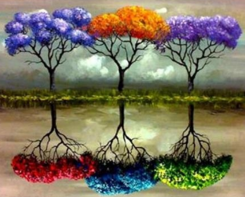 Six Coloured Trees - Full Drill Diamond Painting - Specially ordered for you. Delivery is approximately 4 - 6 weeks.