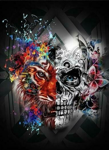 Skull 09 - Full Drill Diamond Painting - Specially ordered for you. Delivery is approximately 4 - 6 weeks.