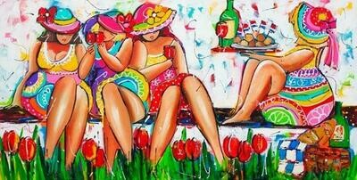 Ladies Picnic - Full Drill Diamond Painting - Specially ordered for you. Delivery is approximately 4 - 6 weeks.