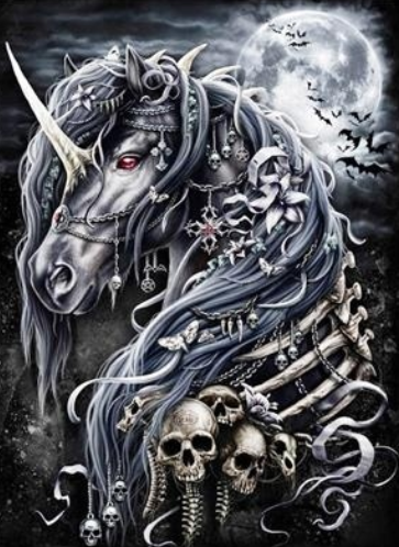 Gothic Unicorn - Full Drill Diamond Painting - Specially ordered for you. Delivery is approximately 4 - 6 weeks.