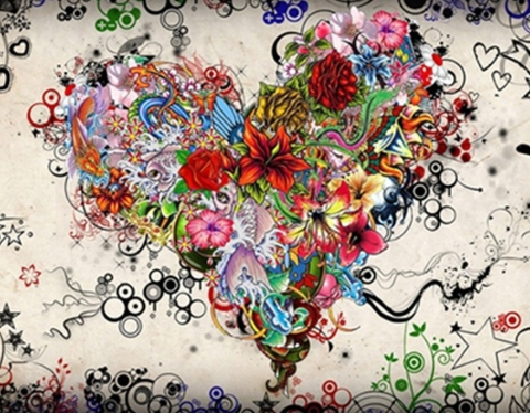 Abstract Heart 02  - Full Drill Diamond Painting - Specially ordered for you. Delivery is approximately 4 - 6 weeks.