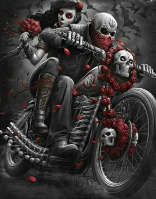 Skull Motorbike - Full Drill Diamond Painting - Specially ordered for you. Delivery is approximately 4 - 6 weeks.