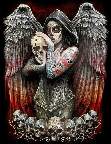 Skull Angel - Full Drill Diamond Painting - Specially ordered for you. Delivery is approximately 4 - 6 weeks.