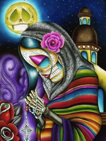 Spanish Skeleton Lady - Full Drill Diamond Painting - Specially ordered for you. Delivery is approximately 4 - 6 weeks.