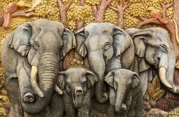 Elephant Family 01 - Full Drill Diamond Painting - Specially ordered for you. Delivery is approximately 4 - 6 weeks.