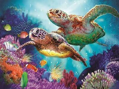 Sea Turtles - Full Drill Diamond Painting - Specially ordered for you. Delivery is approximately 4 - 6 weeks.