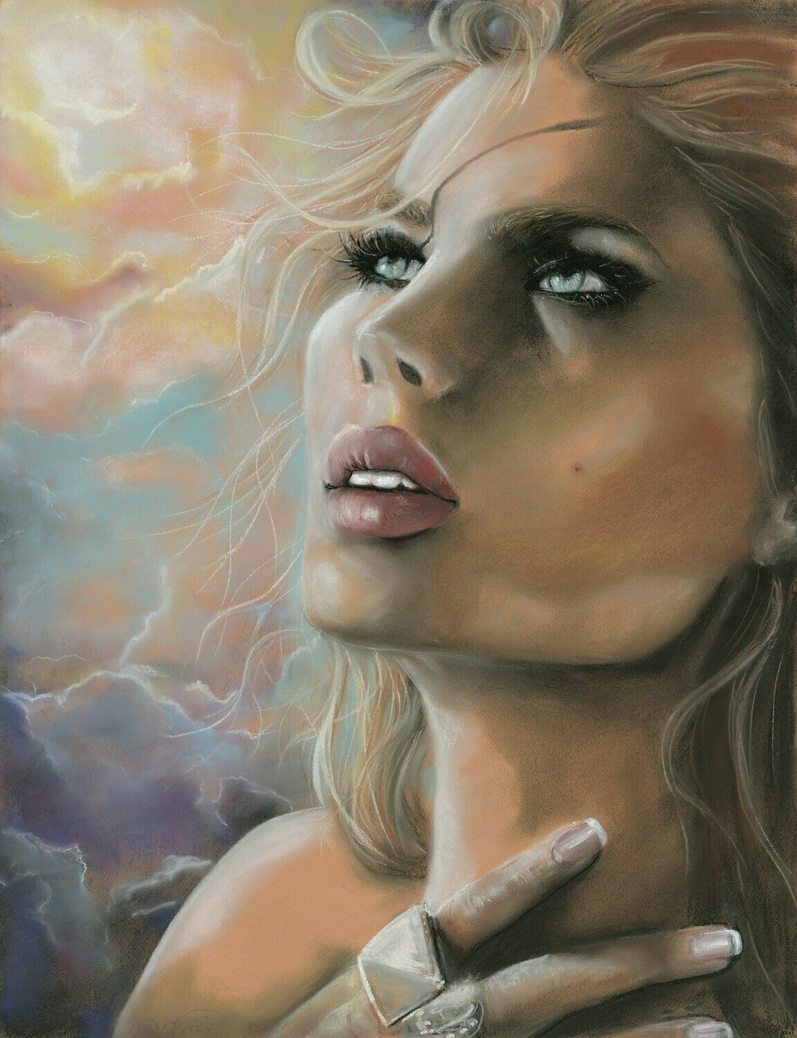 Sad Lady - Full Drill Diamond Painting - Specially ordered for you. Delivery is approximately 4 - 6 weeks.