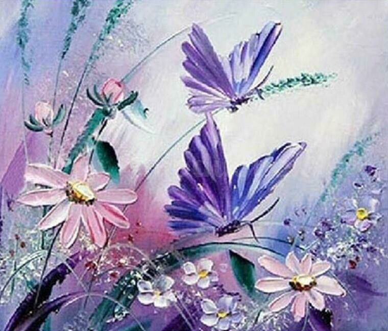 Butterflies 05 - Full Drill Diamond Painting - Specially ordered for you. Delivery is approximately 4 - 6 weeks.