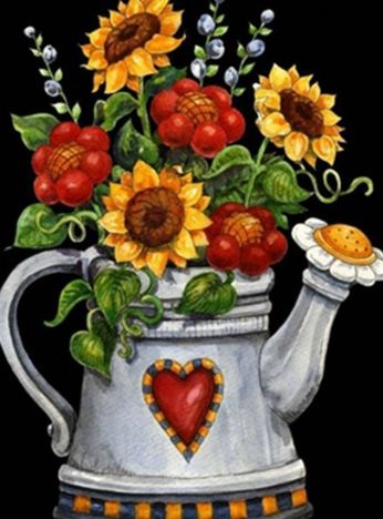 Sunflowers in Kettle - Full Drill Diamond Painting - Specially ordered for you. Delivery is approximately 4 - 6 weeks.