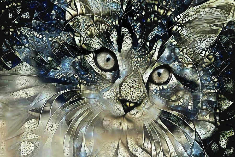 Starstruck Cat - Full Drill Diamond Painting - Specially ordered for you. Delivery is approximately 4 - 6 weeks.