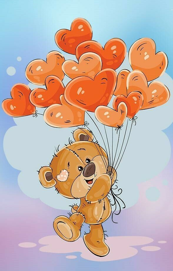 Teddy Love - Full Drill Diamond Painting - Specially ordered for you. Delivery is approximately 4 - 6 weeks.
