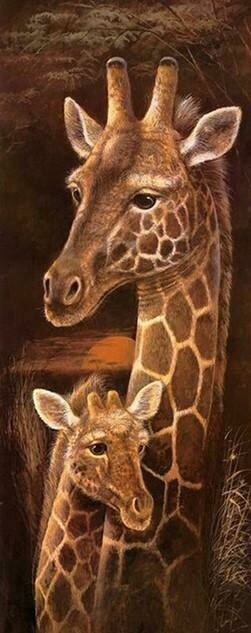 Wild Mothers Giraffe - Full Drill Diamond Painting - Specially ordered for you. Delivery is approximately 4 - 6 weeks.