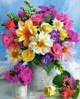 Vase of Pretty Flowers - Full Drill Diamond Painting - Specially ordered for you. Delivery is approximately 4 - 6 weeks.