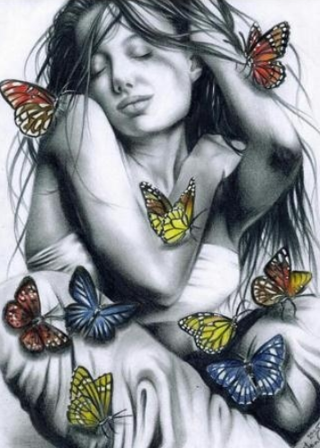 Woman and Butterflies 02 - Full Drill Diamond Painting - Specially ordered for you. Delivery is approximately 4 - 6 weeks.