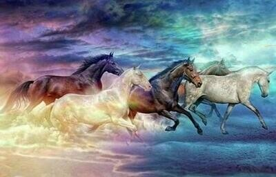 Wild Horses - Full Drill Diamond Painting - Specially ordered for you. Delivery is approximately 4 - 6 weeks.