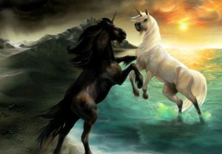 Unicorn Fight - Full Drill Diamond Painting - Specially ordered for you. Delivery is approximately 4 - 6 weeks.