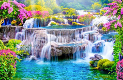 Waterfall 04 - Full Drill Diamond Painting - Specially ordered for you. Delivery is approximately 4 - 6 weeks.
