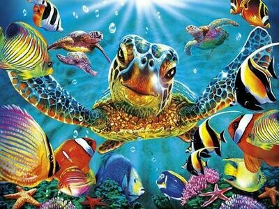 Turtle - Full Drill Diamond Painting - Specially ordered for you. Delivery is approximately 4 - 6 weeks.