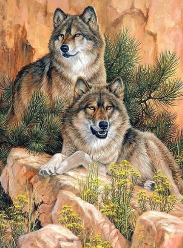 Wolves 08 - Full Drill Diamond Painting - Specially ordered for you. Delivery is approximately 4 - 6 weeks.