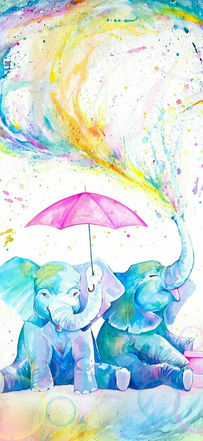 Watercolour Elephant 02 - Full Drill Diamond Painting - Specially ordered for you. Delivery is approximately 4 - 6 weeks.