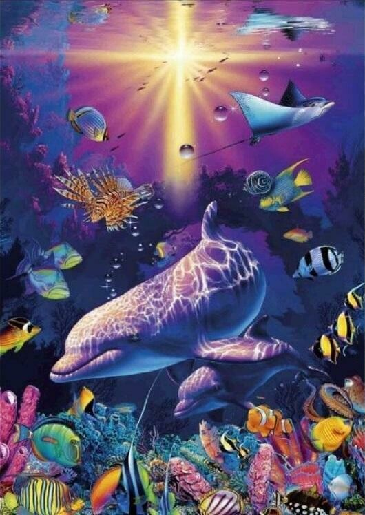 Under the Sea 04 - Full Drill Diamond Painting - Specially ordered for you. Delivery is approximately 4 - 6 weeks.