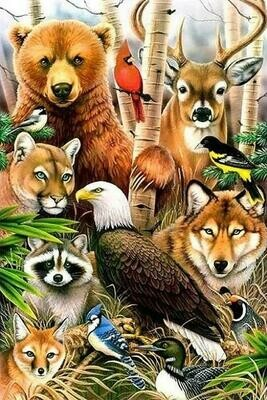 Wildlife - Full Drill Diamond Painting - Specially ordered for you. Delivery is approximately 4 - 6 weeks.