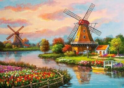 Windmills - Full Drill Diamond Painting - Specially ordered for you. Delivery is approximately 4 - 6 weeks.