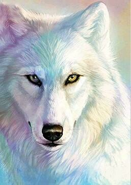White Wolf  - Full Drill Diamond Painting - Specially ordered for you. Delivery is approximately 4 - 6 weeks.