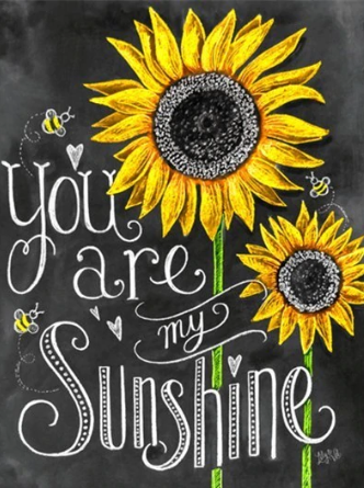 You are My Sunshine - Full Drill Diamond Painting - Specially ordered for you. Delivery is approximately 4 - 6 weeks.