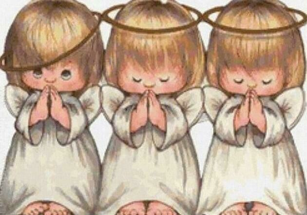 Three Sweet Angels - Full Drill Diamond Painting - Specially ordered for you. Delivery is approximately 4 - 6 weeks.