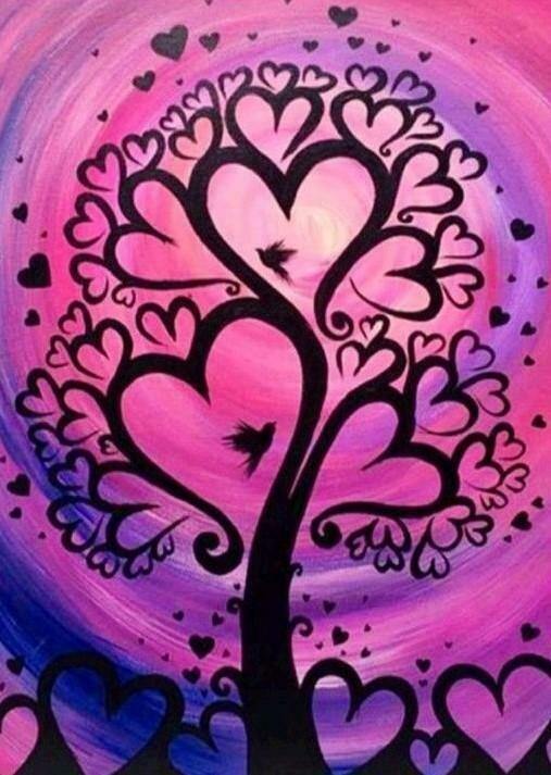 Tree of Hearts - Full Drill Diamond Painting - Specially ordered for you. Delivery is approximately 4 - 6 weeks.