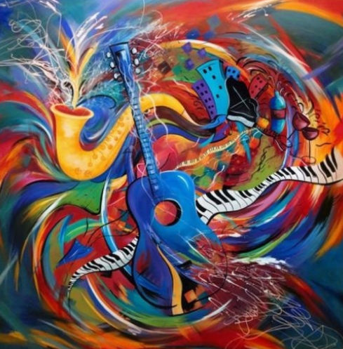 Abstract Music 02- Full Drill Diamond Painting - Specially ordered for you. Delivery is approximately 4 - 6 weeks.