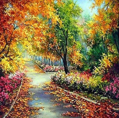 Autumn Lane - Full Drill Diamond Painting - Specially ordered for you. Delivery is approximately 4 - 6 weeks.