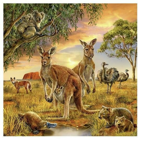 Aussie Wildlife - Full Drill Diamond Painting - Specially ordered for you. Delivery is approximately 4 - 6 weeks.