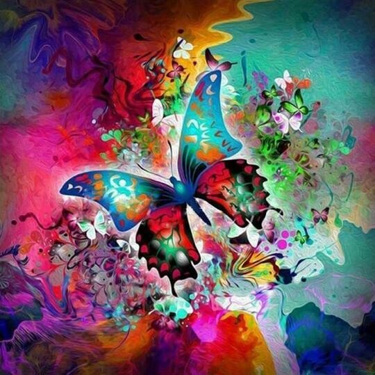 Butterfly Abstract- Full Drill Diamond Painting - Specially ordered for you. Delivery is approximately 4 - 6 weeks.