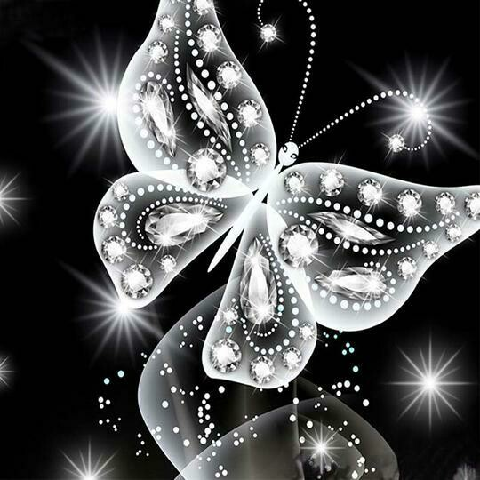 Black White butterfly 2- Full Drill Diamond Painting - Specially ordered for you. Delivery is approximately 4 - 6 weeks.